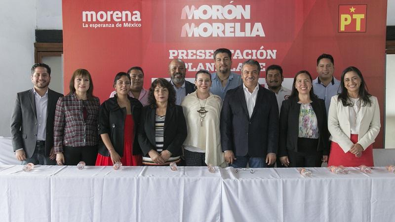 Tenemos la fuerza y el apoyo ciudadano para transformar a Morelia: Raúl Morón
