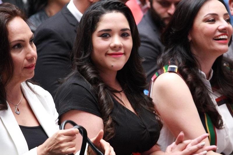 Xóchitl Ruiz, aprovechó la oportunidad para felicitar a la comunidad estudiantil y docente del Instituto Tecnológico de Morelia, recipiendario de la presea