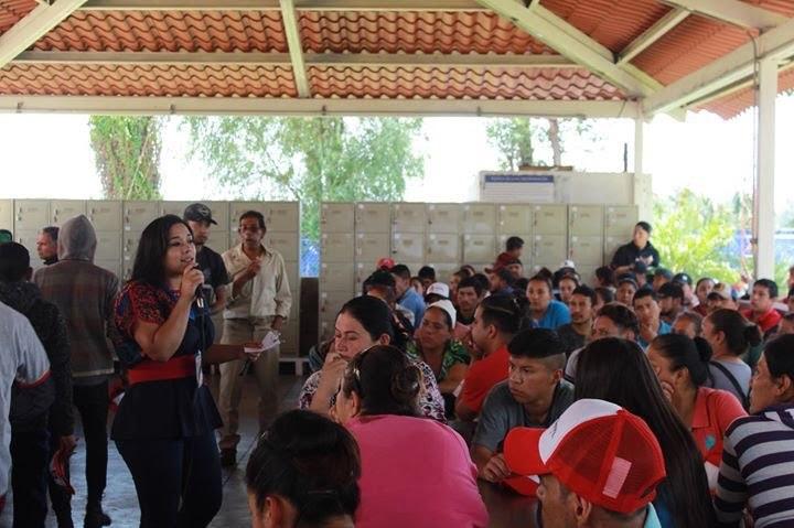 Urge mejorar condiciones de trabajadores agroindustriales: Xóchitl Ruiz
