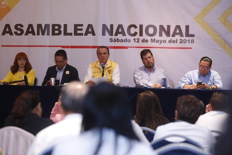 Durante la Asamblea Nacional Ordinaria fueron electos los nuevos liderazgos de la expresión perredista