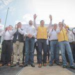 Acompañado del dirigente nacional del PRD, Manuel Granados Covarrubias, Toño García afirmó que con el respaldo de las dirigencias de los partidos que conforman el Frente por México, los candidatos de la coalición avanzan a paso firme rumbo a los comicios del próximo 1 de julio