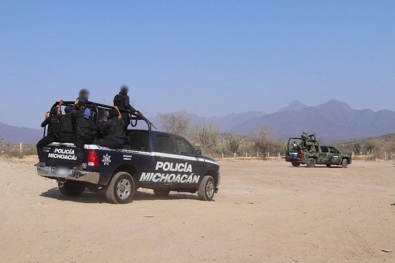 El despliegue del personal militar y policial se realiza en la región de Apatzingán a través de las Bases de Antúnez, Cenobio Moreno, Nueva Italia, La Ruana, Buenavista, así como Lombardía, Pinzándaro y El Aguaje
