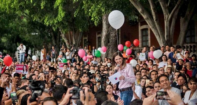 Daniela de los Santos dejó en claro que los cuatro ejes de su campaña están basados en el sentir de los ciudadanos
