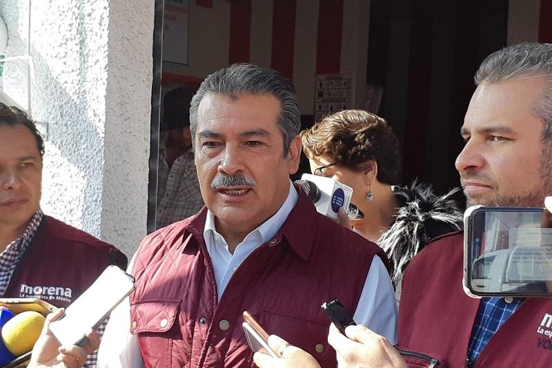 En su oportunidad, Alfredo Ramírez Bedolla, candidato a diputado local por el Distrito XVII, señaló que Silvano Aureoles ya traicionó al Frente y no apoyará a Carlos Quintana