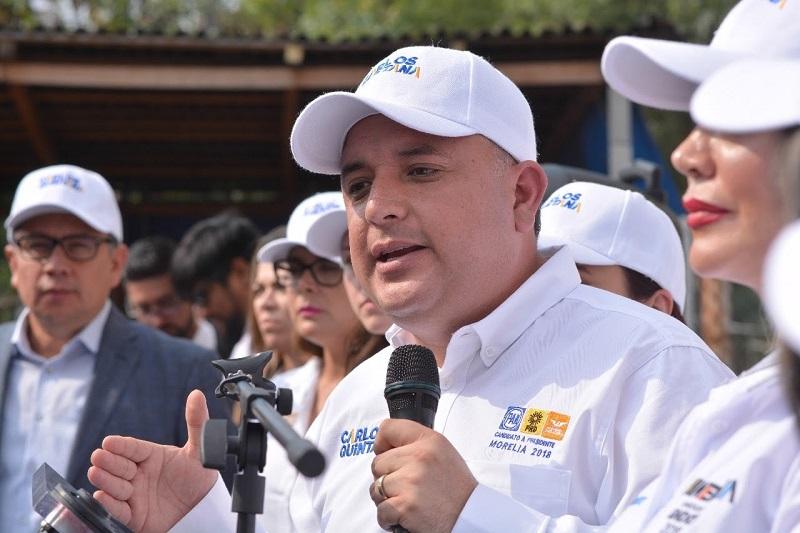 Carlos Quintana recordó que hace más de 35 años que no se construye un nuevo mercado en el municipio de Morelia y hay zonas donde se requieren, como el poniente, el norte y el sur de la ciudad