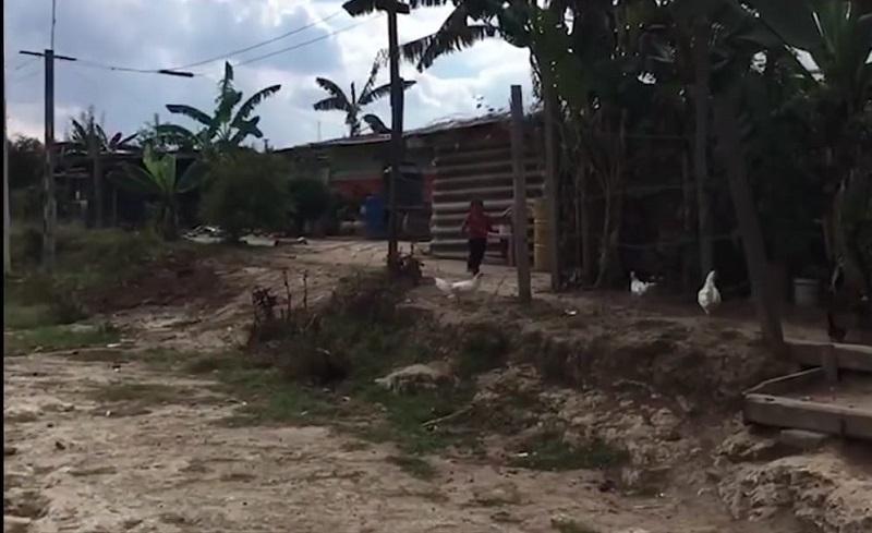 El citado asentamiento cuenta en su mayoría con casas de lámina y madera, calles sin pavimentar, no cuentan con drenaje, no hay agua potable pues los pobladores tienen que conseguir garrafones aparte de pipas de agua para sus aljibes