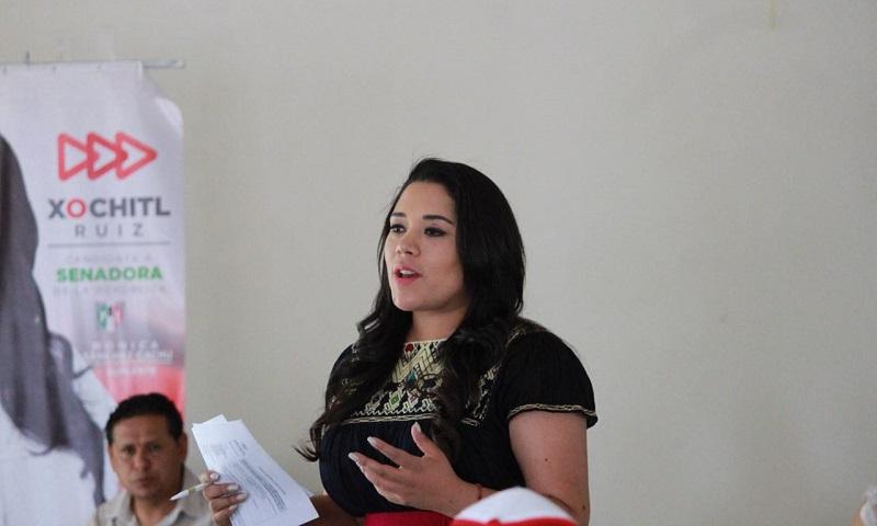 Xóchitl Ruiz, candidata del PRI al Senado de la República se reunió con productores de arroz