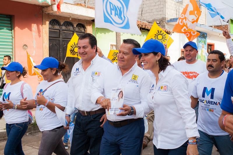 Macarena Chávez aseveró que el proyecto de trabajo que se impulsará una vez que llegue a la presidencia será el de promover el sector productivo, comercial y turístico