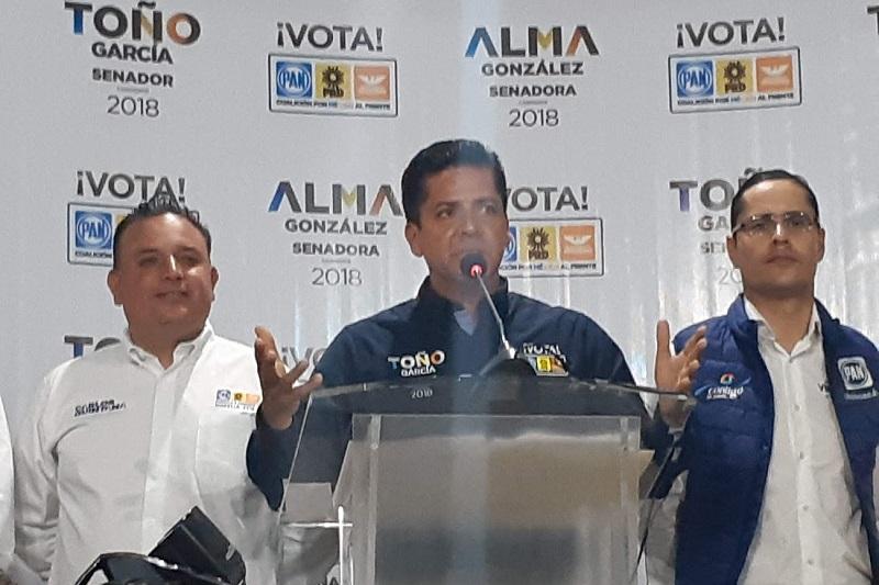 García Conejo aseguró que los argumentos de los adversarios políticos en el sentido de que el Frente está dividido y no está debidamente integrado y cohesionado no son más que estrategias para tratar de afectar a los candidatos de la coalición