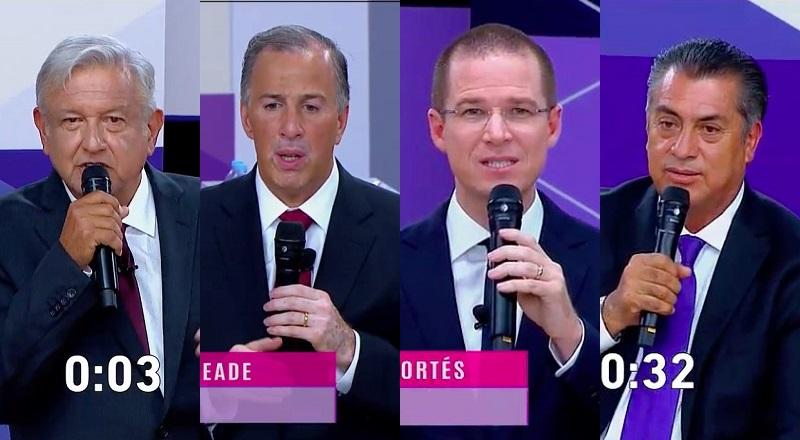 """Creo yo que por ahora se mantienen todos en sus sitios, con cambios menores en cifras en el siguiente orden: Andrés Manuel, Ricardo Anaya, José Antonio Meade y """"El Bronco"""". ¿Usted qué opina?"""