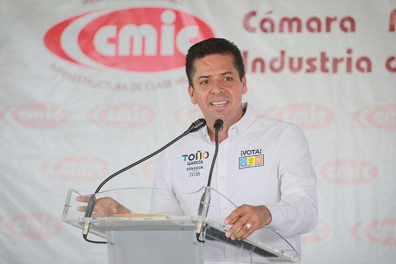 """""""Tengo la confianza de que seré senador y que podré trabajar en coordinación con ellos para impulsar proyectos a largo plazo, como la construcción de caminos y carreteras"""", expuso Antonio García Conejo"""