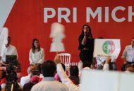 Esto, en el acto encabezado en Morelia por Miguel Ángel Osorio, coordinador nacional de candidatos del PRI al Senado