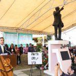 Silvano Aureoles presidió esta mañana en Zitácuaro el 92 aniversario del natalicio del periodista Manuel Buendía