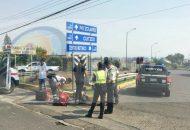 Elementos de la Secretaría de Seguridad Pública se hicieron cargo de realizar el peritaje para deslindar responsabilidades y retirar las unidades siniestradas