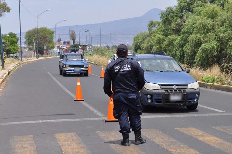 La SSP mantiene trabajos de vigilancia permanente para la búsqueda de unidades robadas así como los que se usen en la posible comisión de delitos, a fin de inhibir el robo de vehículos en la entidad