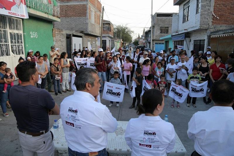 Seré el Presidente Municipal que más recursos gestionaré para rescatar colonias de Morelia, destaca Raúl Morón