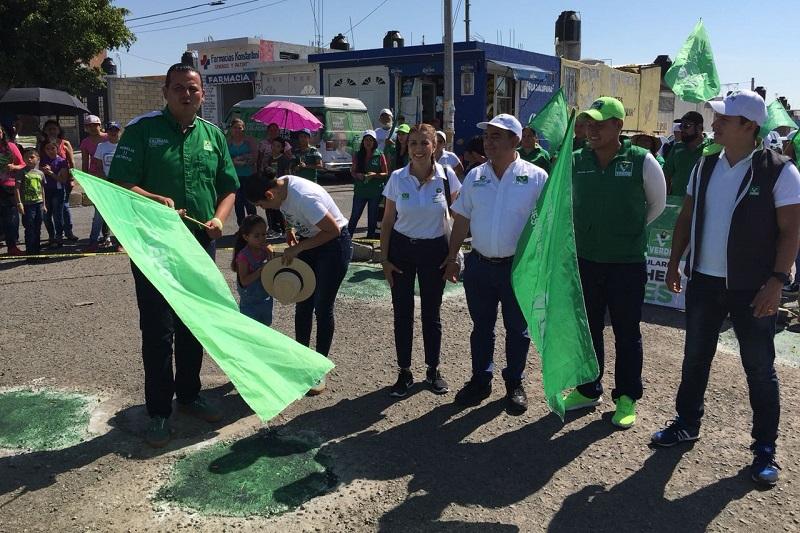 """Constantino Ortiz llamó a los morelianos a """"votar puro verde"""" este 1° de julio y afirmó que Memo Valencia será un diputado cercano a la gente, como lo ha hecho hasta ahora"""