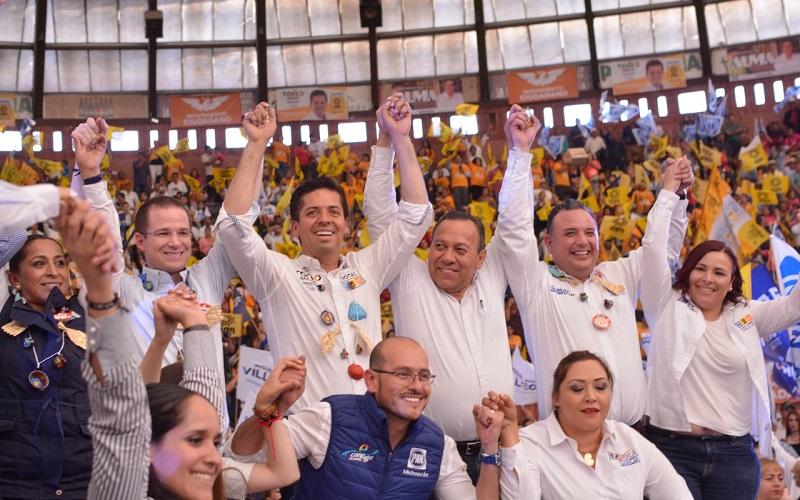 Más de seis mil personas se reunieron en Morelia para respaldar al próximo Presidente de México
