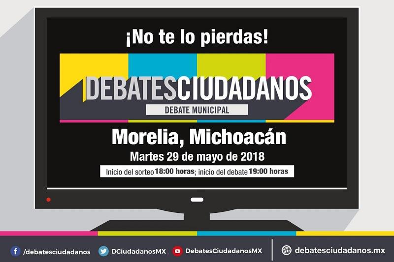 El Debate Ciudadano se realizará el próximo martes, en punto de las 19:00 horas y los interesados podrán consultar mayor información y seguir la transmisión en vivo a través de www.debatesciudadanos.mx