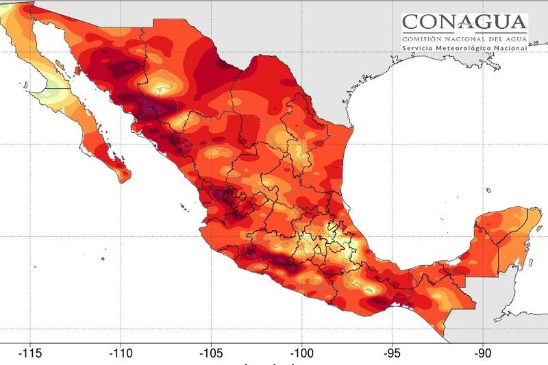 Pronósticos del Servicio Meteorológico Nacional indican que las altas temperaturas seguirán presentes en la mayor parte del territorio mexicano