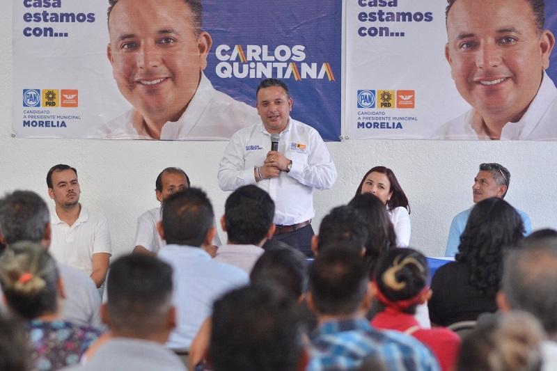 """Carlos Quintana, abanderado de """"Por Morelia al Frente"""", garantizó la reducción de los trámites burocráticos en el Ayuntamiento de Morelia"""