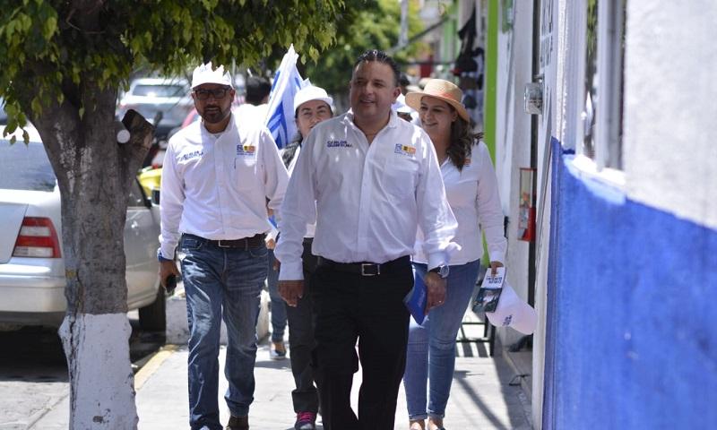 El trabajo de campaña se realiza directo con los morelianos, sin descalificaciones y con propuestas: Carlos Quintana