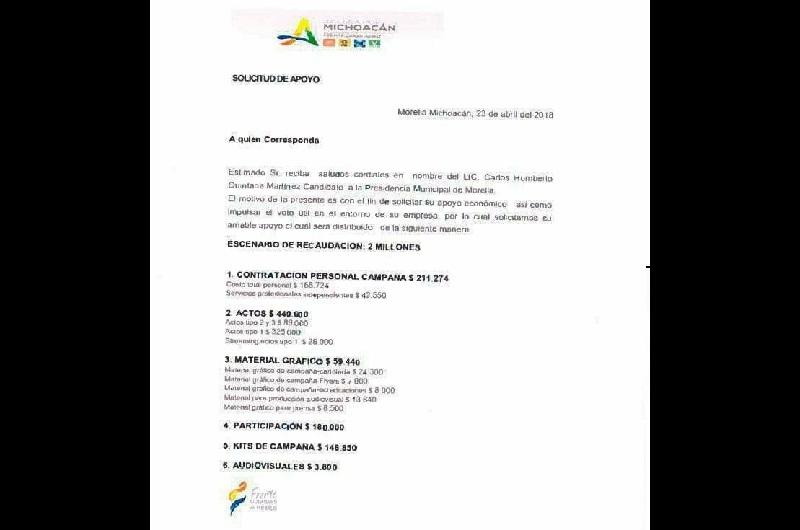 Por lo que se refiere a la factura cancelada presentada por Martínez Alcázar, fuentes de Coparmex indican que se trata de un documento de 2015 que de ser real no tendría relación alguna con el proceso electoral 2017-2018