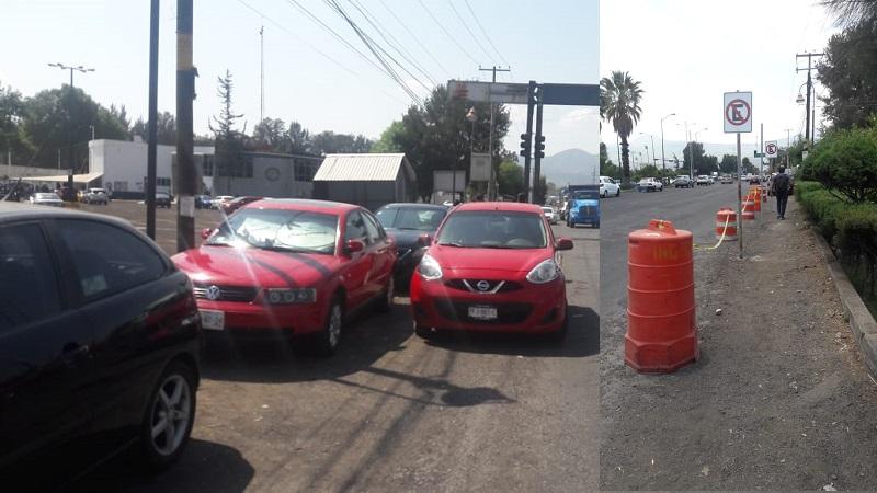 Se quejan automovilistas que Procuraduría se adueñó de estacionamiento y ahora impide que autos se estacionen cerca