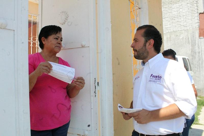 """Fausto Vallejo Mora refrendó que uno de sus compromisos con la gente es """"ser un diputado de calle; tendré que regresar a cumplir cada uno de mis compromisos"""""""