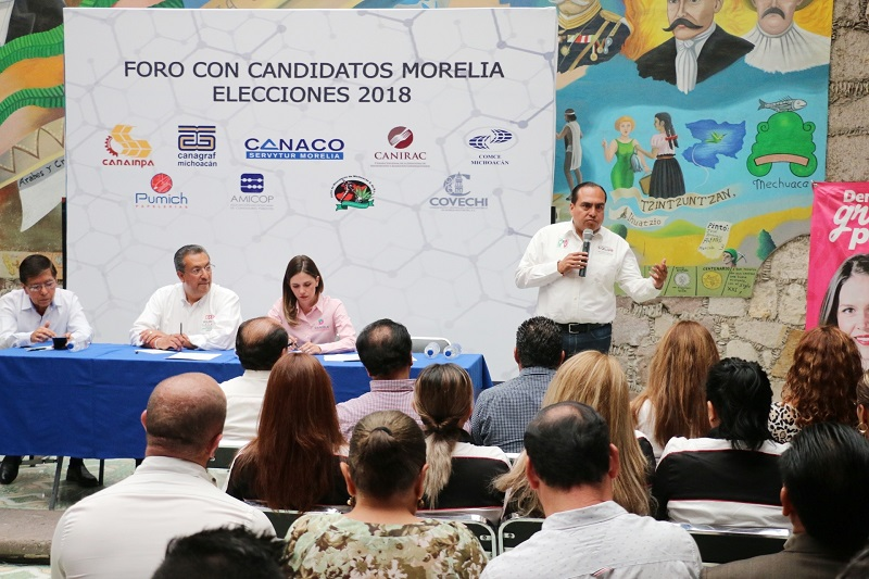 Ante representantes de la Canaco Servitur, Gerónimo Color presentó una propuesta integral de impulso al comercio local
