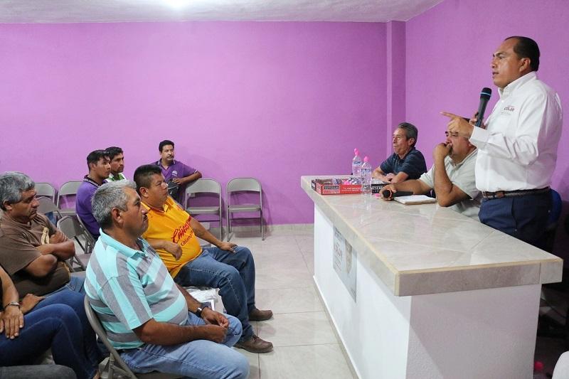 El candidato priísta destacó la importancia de mantener una comunicación cercana con los transportistas y escuchar sus propuestas