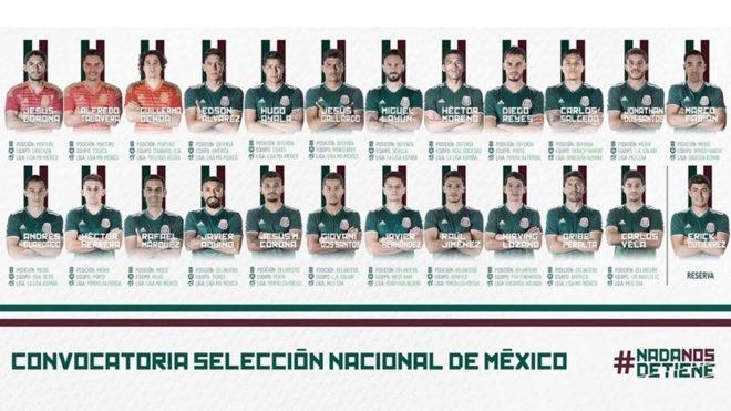 México debutará el domingo 17 de junio ante el campeón Alemania