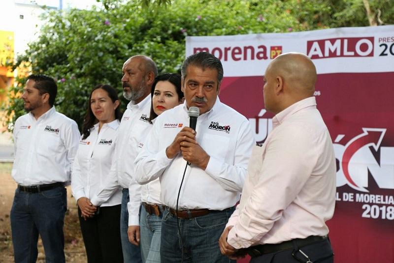 """""""Estamos empeñados que el acceso al agua potable sea un derecho humano para los morelianos, por ello vamos a trabajar para que garantizar ese derecho"""": Raúl Morón"""