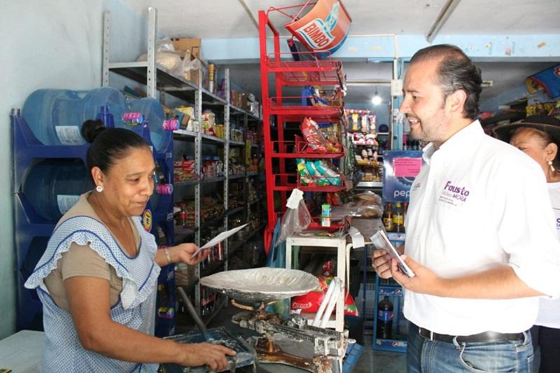 Vallejo Mora refrendó que él será un candidato y legislador que hará hacer valer la voz de los habitantes de esta área de la ciudad, para que juntos y poco a poco se resuelvan cada una de sus demandas