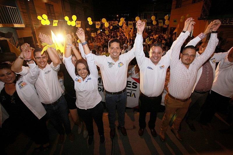 Toño García respaldó a los candidatos de Por Morelia Al Frente por la capital michoacana para vincular proyectos desde el Senado para esta ciudad