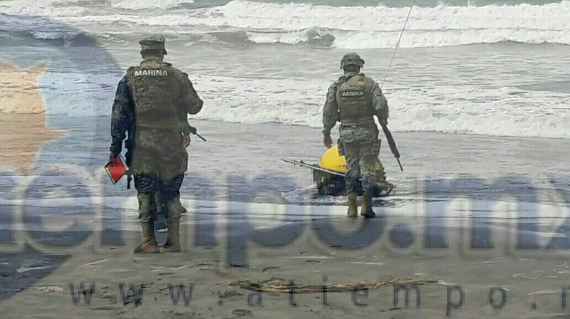 Boya para oceanografía es encontrada en playa de Lázaro Cárdenas