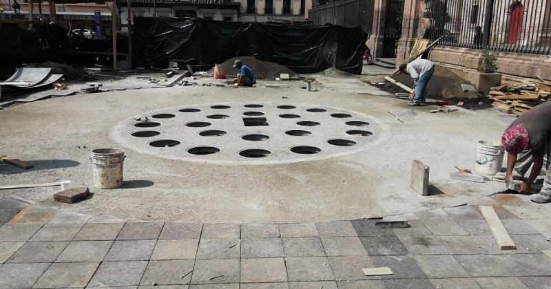 """""""Fuentes Danzarinas"""" con 85% de avance; podrían inaugurarse a finales de junio"""