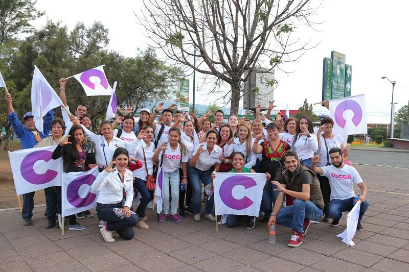 Calderón Hinojosa aseguró que cada día son más los ciudadanos que le dan su respaldo
