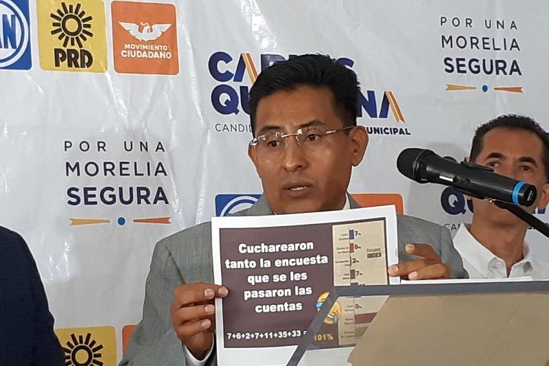 Para Chávez Zavala, es indignante para los morelianos que se gasten los recursos de los morelianos en encuestas como esas (FOTO: SEBASTIÁN CASIMIRO)