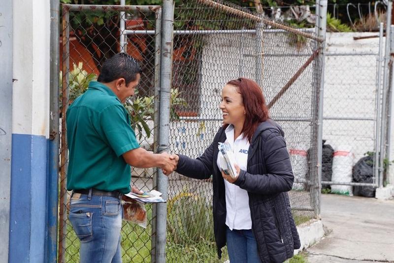 Andrea Villanueva refrendó su compromiso de empoderar al ciudadano, generando políticas reales y efectivas de prevención del delito y de proximidad entre el ciudadano y las autoridades responsables de la seguridad