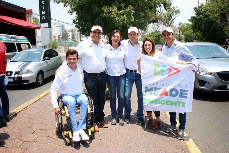 Color Gasca destacó el papel fundamental que tienen los jóvenes para el desarrollo de la entidad y de manera particular en su campaña rumbo a la diputación federal
