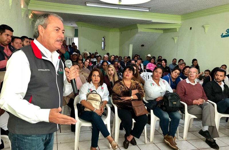 """Víctor Silva se comprometió a continuar las labores que se tienen desde la base misma """"porque aquí es donde radica la riqueza y la fortaleza misma del partido"""""""