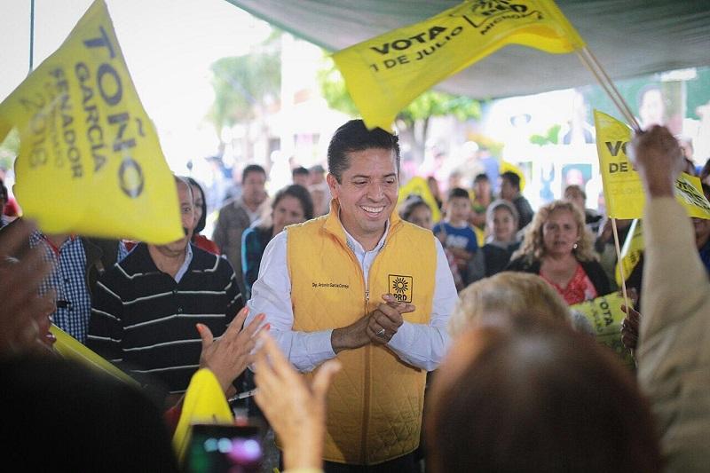 Antonio García Conejo puntualizó que en estas elecciones el voto será una defensa para Michoacán, para ver por sus intereses en común y su sociedad.