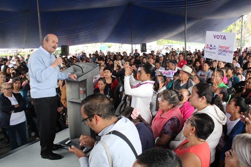 Fausto Vallejo Figueroa apuntó que el partido Encuentro Social representa la fuerza de los valores de miles de mexicanos y michoacanos y por ello es que asumió el reto de ser abanderado de este instituto político para competir por la alcaldía de Morelia