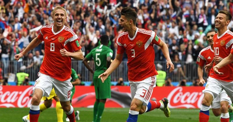 Con su triunfo, Rusia suma tres puntos y se sitúa al frente del Grupo A, a la espera de lo que ocurra el viernes en Ekaterimburgo entre Uruguay y Egipto