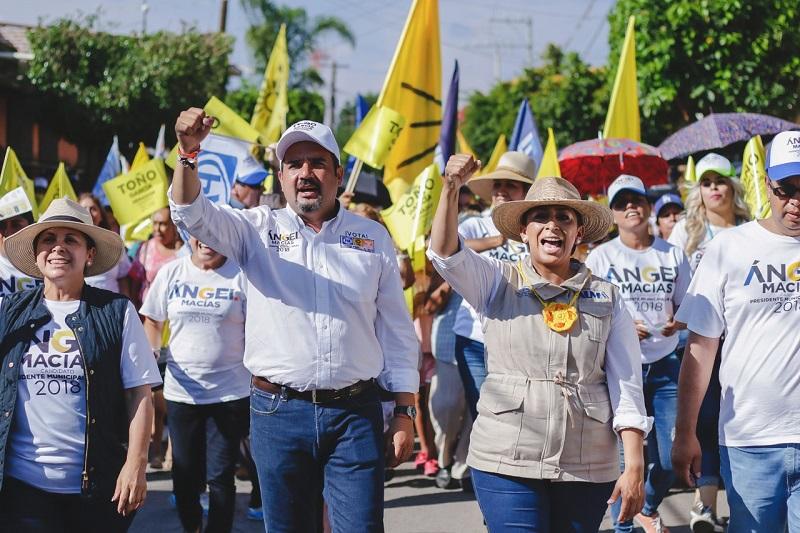 Los candidatos del frente pidieron el voto para este primero de julio al garantizar un mejor desarrollo para el país y el estado: Alma Mireya González
