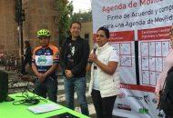 Durante la firma la Candidata Independiente manifestó su compromiso con la Agenda Urbana de Movilidad, con especial énfasis en los beneficios del uso de la bicicleta a la salud pública
