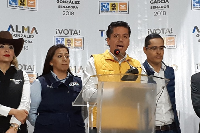 Antonio García hizo un llamado a todos los candidatos que se vean amenazados a no replegarse ni aceptar chantajes, presiones ni amenazas, sino a denunciar ante las autoridades todas esas situaciones (FOTO: SEBASTIÁN CASIMIRO)