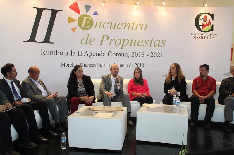 Vallejo Figueroa resaltó que en estas campañas electorales ha presentado a los morelianos proyectos concretos listos para ejecutarse en los próximos tres años