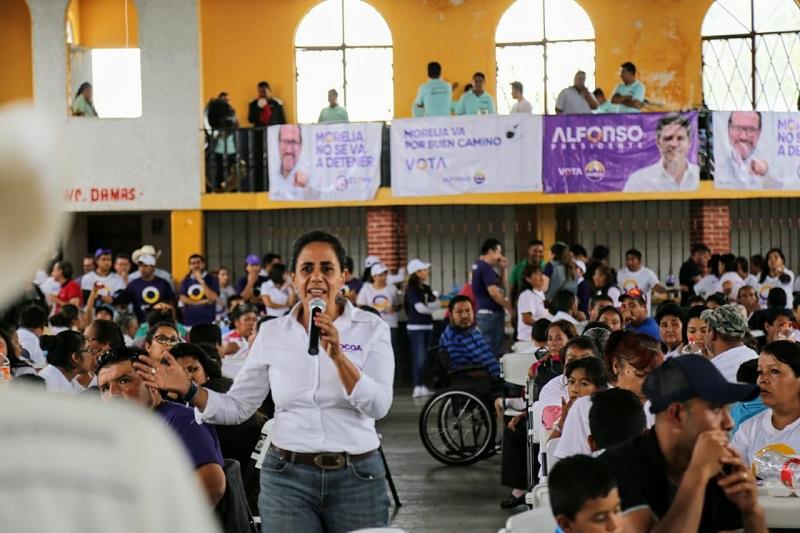 Luisa María Calderón llamó a los ciudadanos a ejercer un voto responsable, libre y consciente